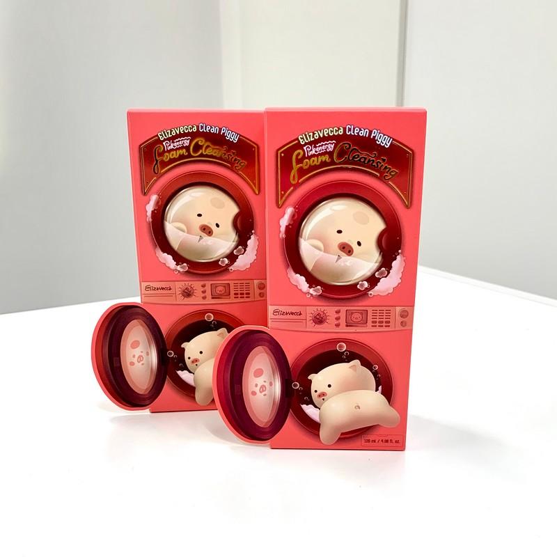 Пенка для умывания Elizavecca Clean Piggy Pinkenergy Foam Cleansing