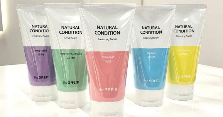 Пенка для умывания The Saem Natural Condition Cleansing Foam