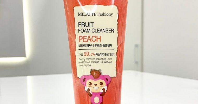 Пенка для умывания фруктовая (персик) от Milatte
