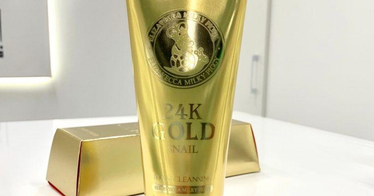 Пенка для умывания улиточная Elizavecca 24K Gold Snail Cleansing Foam