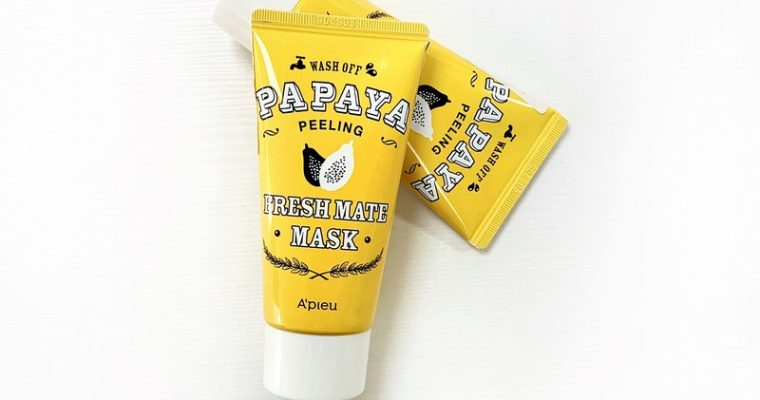Осветляющая маска-пилинг Wash Off Papaya Peeling Fresh Mate Mask от A'Pieu