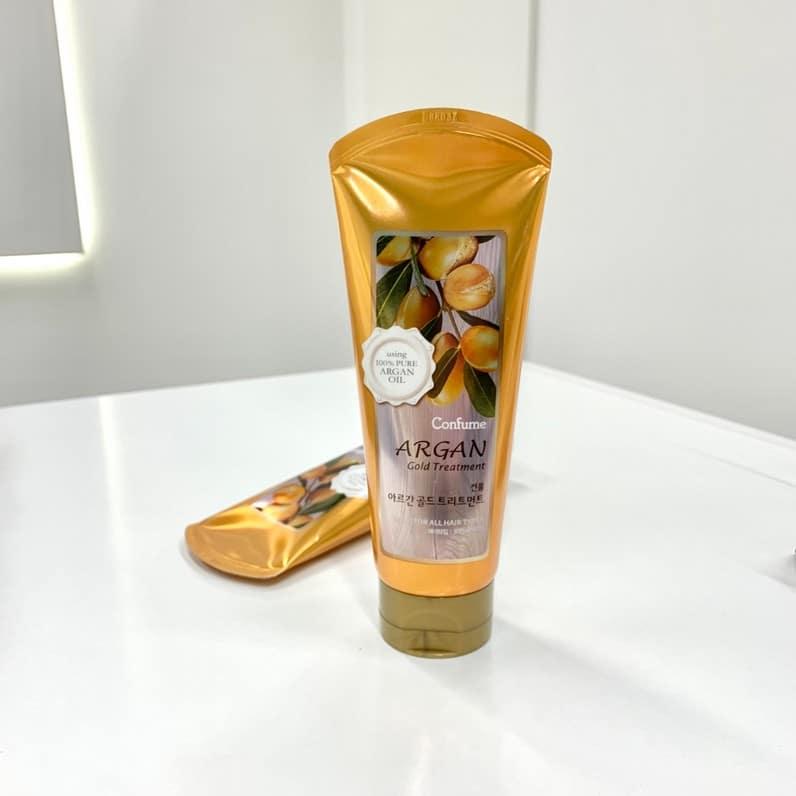 Увлажняющая маска с аргановым маслом и золотом  от Welcos