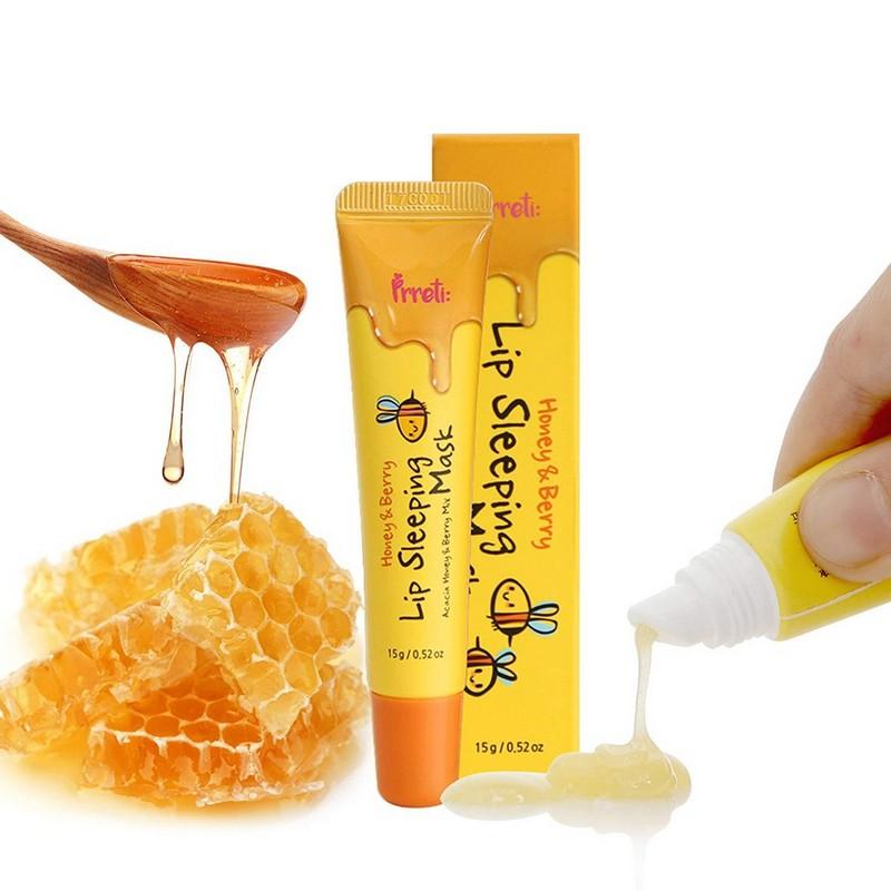 Ночная маска для губ с мёдом акации и ягодами от PRRETI