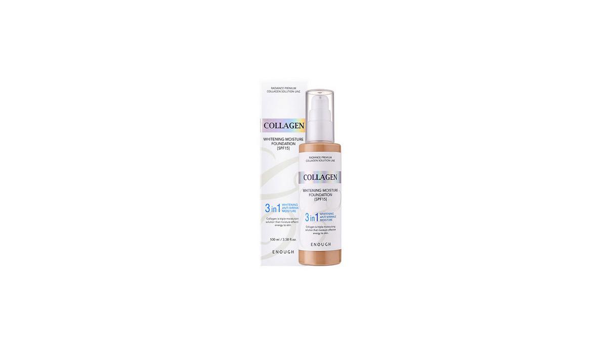 Тональный крем с коллагеном для сияния кожи SPF15 ENOUGH Collagen 3 in 1 Whitening Moisture Foundation SPF15