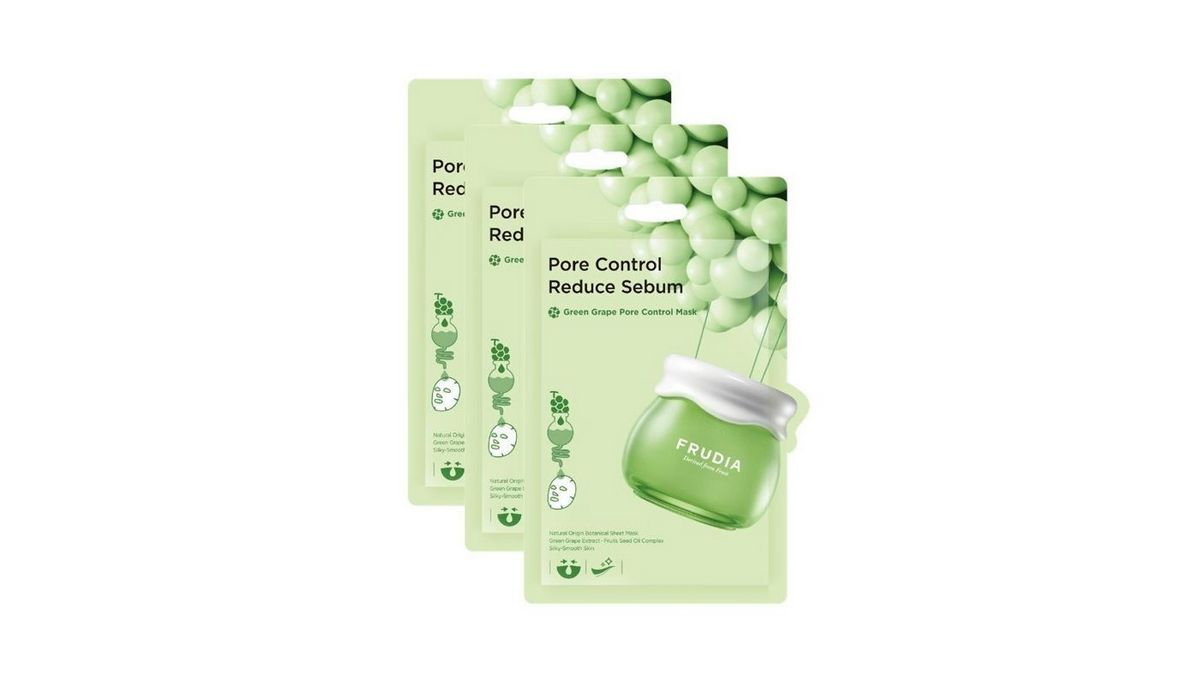 Тканевая маска с зеленым виноградом для контроля жирности и сужения пор FRUDIA