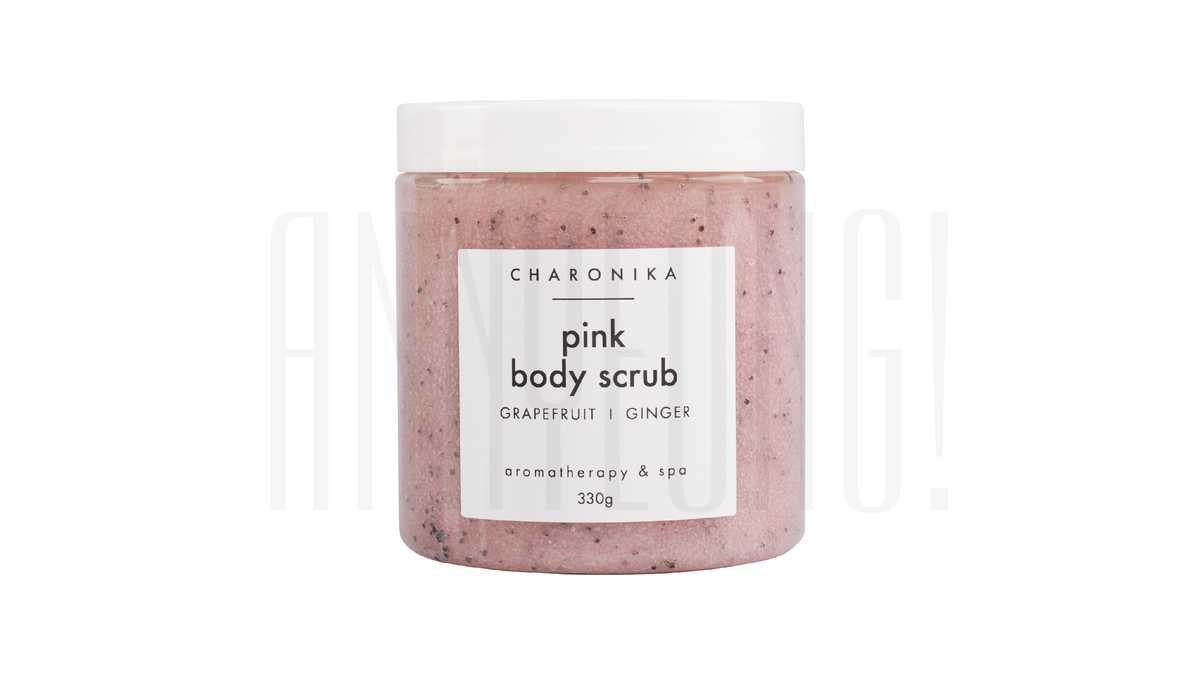 Соляной скраб для тела PINK BODY SCRUB от Charonika